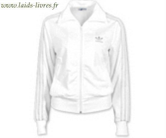 veste adidas original blanche